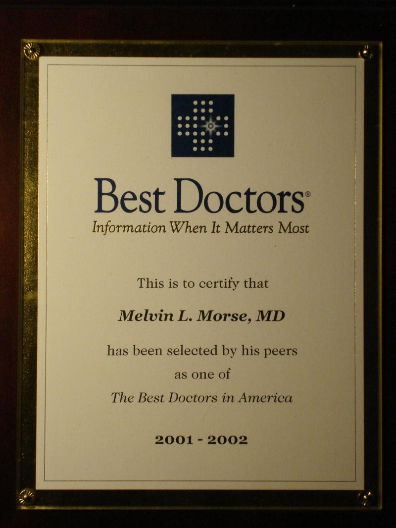 Again voted one of America's Best Doctors